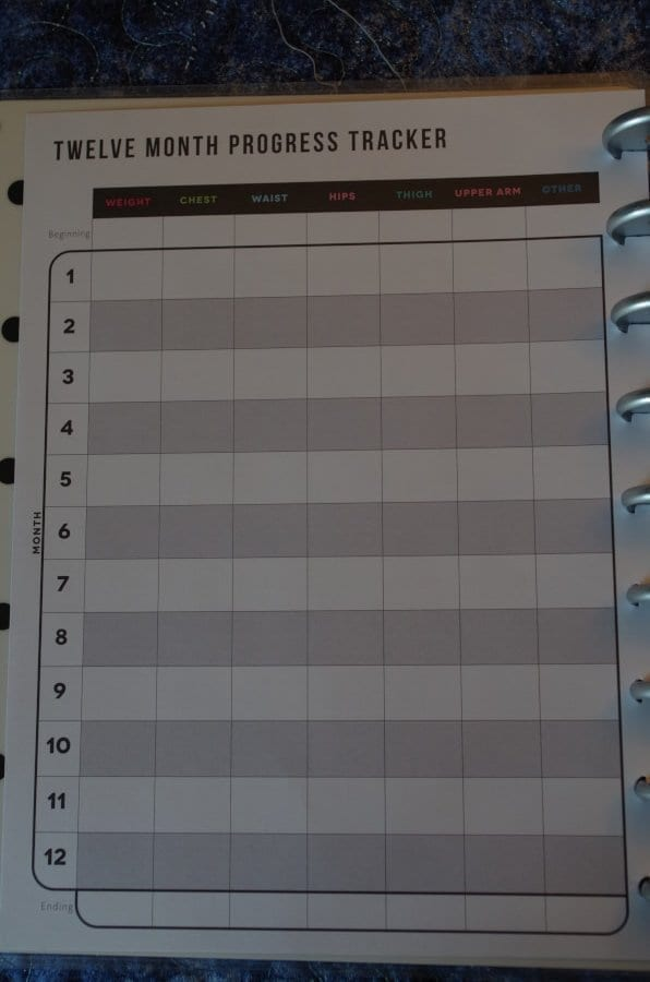 Fitness Happy Planner Tracking Page