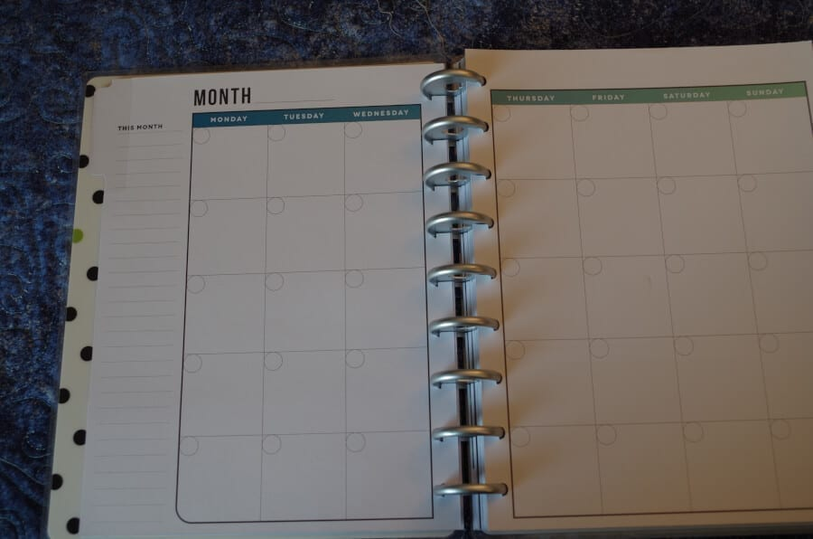 Fitness Happy Planner Month Page