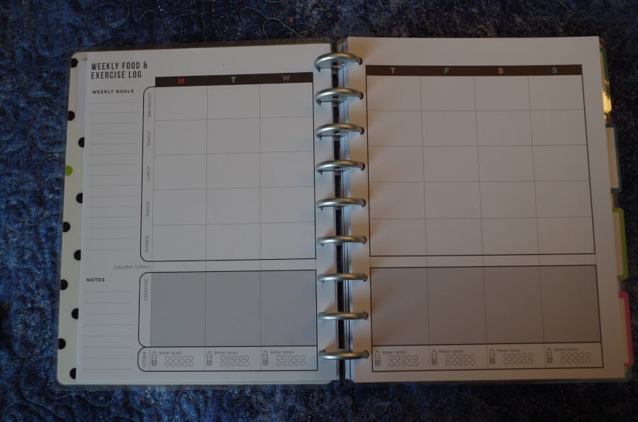 Fitness Happy Planner Weekly Page