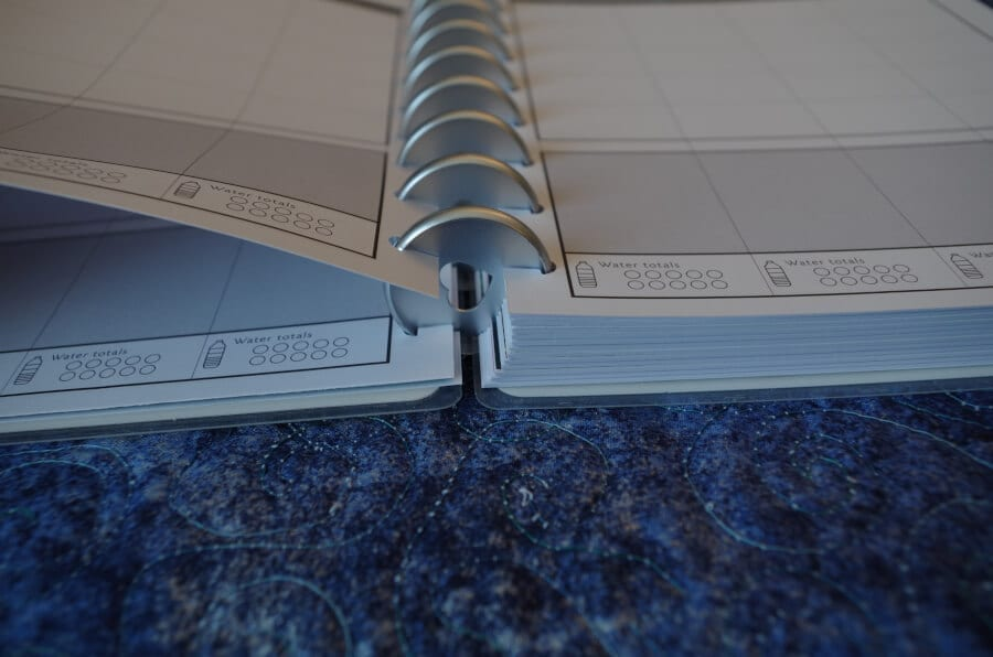 Turning pages in the happy planner