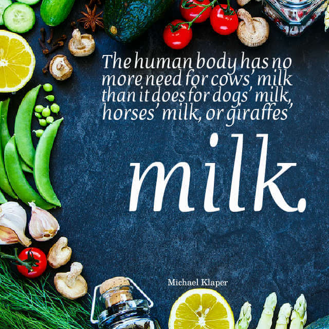 Quote about milk: We Don't Need Milk
