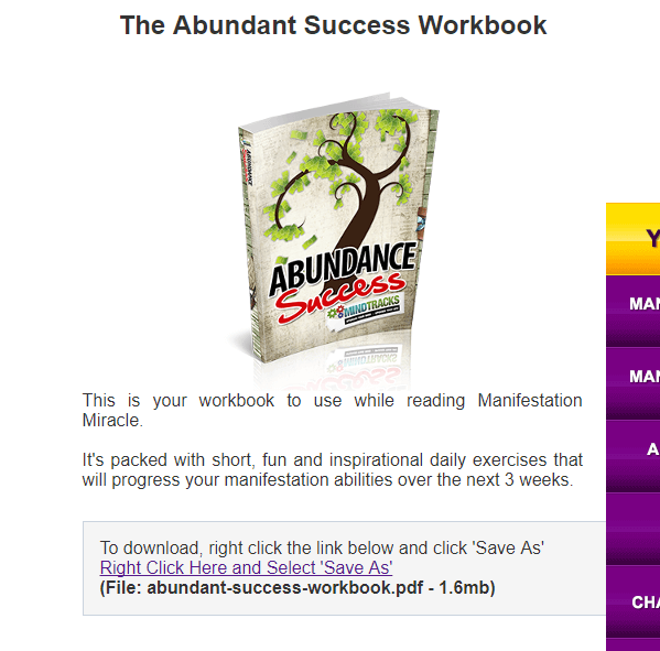 abundance success manifestation miracle